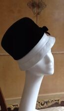 Authentic Miss Dior Vintage 60's Black Velvet Dress Hat With Bow Stunning!