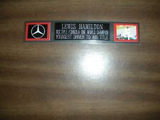 LEWIS HAMILTON (F1 RACING) ENGRAVED NAMEPLATE FOR PHOTO/POSTER/GLOVES