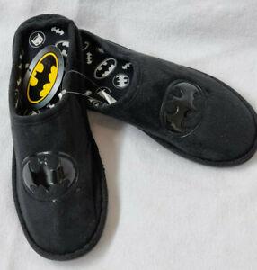 Batman Gents Slippers Slip on Mens Black DC Comics Christmas Gift