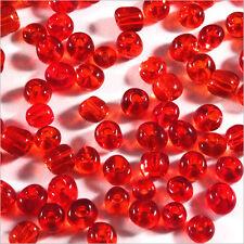 Perles de Rocailles en verre Transparent 4mm Rouge 20g (6/0)