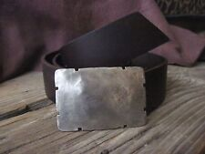 Sundance Catalog Mens Belt Buckle * Rustic Hammered * on Leather  ALL SIZES