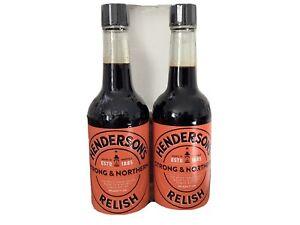 Hendersons Relish Two Bottles