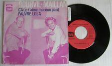 BOURVIL MAILLAN (SP 45T) CA (je t'aime moi non plus) PAUVRE LOLA - (GAINSBOURG)
