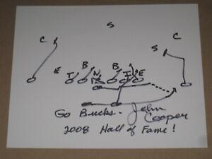 Ohio State Buckeyes JOHN COOPER Signed 8x10 Play Sketch OSU FOOTBALL AUTOGRAPH 1