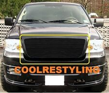 For 04-08 FORD F150 BLACK COLOR Billet Grille Grill 1pc Upper Replacement Insert