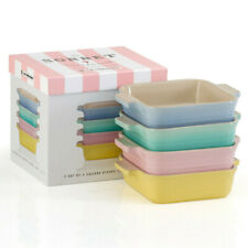 Le Creuset Sorbet Collection Set of 4 Square dishes/sformato forme 13cm NEW