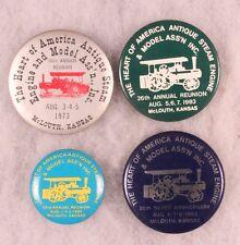 Antique Tracker - Engine Show Badges, McLouth, KS 1970/80's (4 pieces)