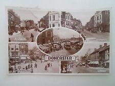 Vintage Real Photo Postcard DONCASTER Multi-View Franked & Stamped 1957