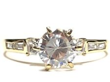 Travel Ring - Size 10.25 Perfect Ladies 10K Yellow Gold Cz