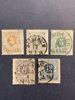1877-78 Sweden Stamps,Perf.13 1/2