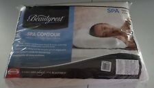 Simmons Beautyrest Spa Contour Memory Foam Bed Pillow, Standard, Velour Cover