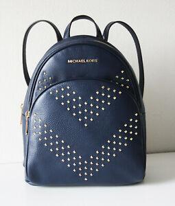 Michael Kors Backpack Bag Abbey Md Backpack Navy 35T9GAYB6L