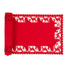 Clayre&Eef  Tischläufer 30 x 120 Serie  Rot Weihnachten