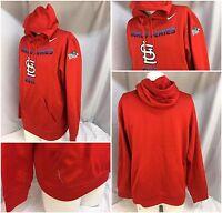 St. Louis Cardinals Nike Hoodie Sweatshirt L Red World Series ThermaFit YGI 4039