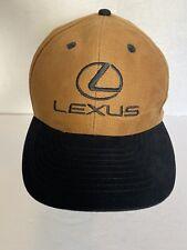 Lexus Hat Cap Adjustable Suede Embroidered  Black Brown