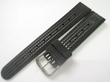 "NEW 19MM REPLACEMENT ""WAFFLE"" RUBBER STRAP FITS SEIKO 6105-8110 DIVER'S WATCH"