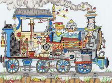 """""""Cut Thru' Steam Train"""" Cross Stitch Kit by Amanda Loverseed by Bothy Threads"""