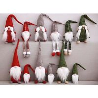 Santa Dwarf Nordic Gnomes With Snowflack Hats Christmas Tree Ornament OO