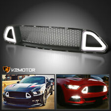 Fits 2015 2017 Ford Mustang Front Upper Hood Mesh Grillebright Led Light Strip Fits Mustang