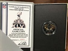 Official NFL Game Coin Superbowl XLVI Patriots Giants Limited Edition 24k CRT