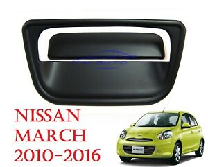 MATT BLACK TAIL GATE HANDLE COVER FITS NISSAN MICRA MARCH HATCHBACK 2010 - 2016