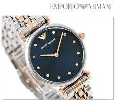 NEW EMPORIO ARMANI TWO-TONE STAINLESS STEEL LADIES WATCH AR11092