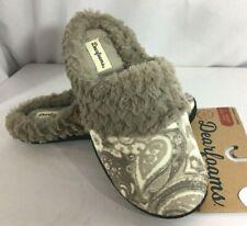 Dearfoams Women Slippers Printed Paisley M (7/8) L (9/10) XL (11/12) Taupe Tan