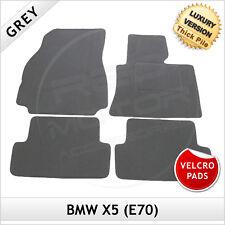 BMW X5 E70 2006-2013 Velcro Pads Tailored LUXURY 1300g Carpet Floor Mats GREY
