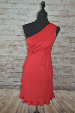 Modcloth Midnight Sun dress in Red NWOT  M One shoulder  holiday Knit  Gilli