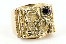 Saphir Gold Ring 750 18K Siegelring Gelbgold massiv 25,31g Größe 67 Herren Ring