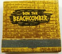 Don The Beachcomber The Polynesian Experience Full Unstruck Vintage Matchbook Ad