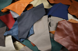 Upholstery Leather Pieces for small crafts - Cowhide remnants   1/2 - 1 HAND