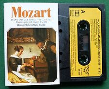 Mozart Piano Concerto No 17 in G Rudolph Kramer Piano Cassette Tape - TESTED