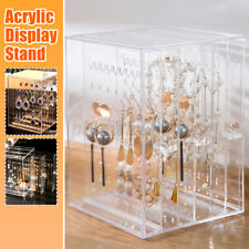 Acrylic Earrings Jewelry Holder Storage Box Display Stand Organiser Clear Rack
