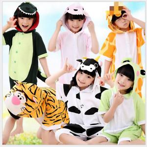 New Kigurumi summer children's jumpsuit pajamas anime cosplay costume