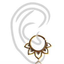 """18G TINY 1/4"""" INCH 6MM RING LOTUS BRASS HANGING TRAGUS NOSE HELIX EARRING SEPTUM"""