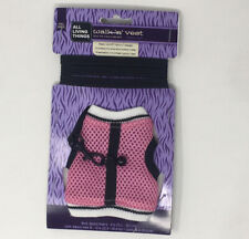 All Living Things Small Animal Vest & Leash Pink Size Small for Ferrets & Rats