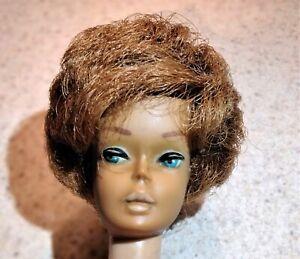 Vintage Mattel Titian Red Bubblecut Barbie Pale Pink Lips