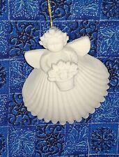 "Margaret Furlong 1999 Flower Basket Angel Christmas Ornament 2"" Euc"
