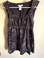 Vertigo Paris Cocoa Boho Gypsy Summer Beach Cotton Shirt Size M