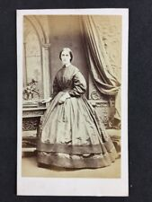 Victorian Carte De Visite CDV Hawkins: Brighton Lady? Large Dress: Bronze Statue