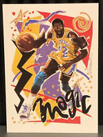 1990 Magic Johnson Hoops basketball card Los Angeles Lakers #367 Team Art HOF LA