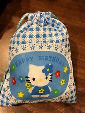 Hello Kitty Drawstring Bag - Gift Bag - Birthday Bag Brand New!