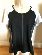 Black/White/Gray Lucy Athletic Top Clothing Size Large