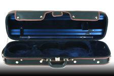 Petz rechteckiges 4/4 Violinetui, Geigenkoffer, Violin Koffer Case, schwarz/blau