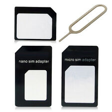 Great Universal SIM Card to Micro Standard SIM Adapter +Slim Tray Eject Pin BDAU