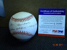 JIM BUCHER BROOKLYN DODGERS  AUTOGRAPH / Signed BASEBALL PSA/DNA  !!