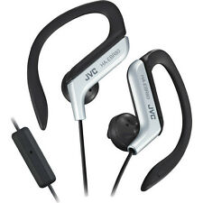 JVC Sports Stereo  Ear Clip Earbuds with Remote and Mic Silver US Seller