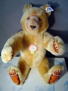 STEIFF Dicky Replica 1930 Teddy Bear 13 inches mohair Limited Edition 1985