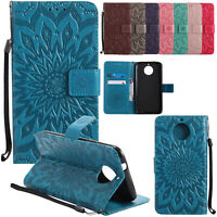 For Motorola Moto G7 Power/ Play Z4 Play Case Magnetic Leather Wallet Flip Cover